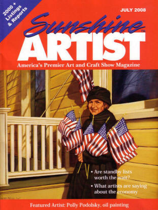 Sunshine Artist Magazine Cover Featuring Polley Podolsky